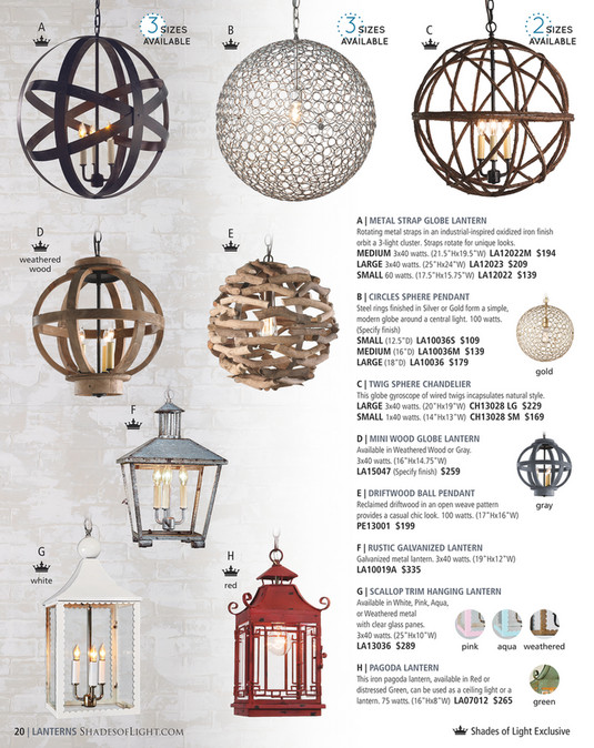 Shades of Light - Modern Eclectic 2016 - Chicken Wire Pendant Light ...