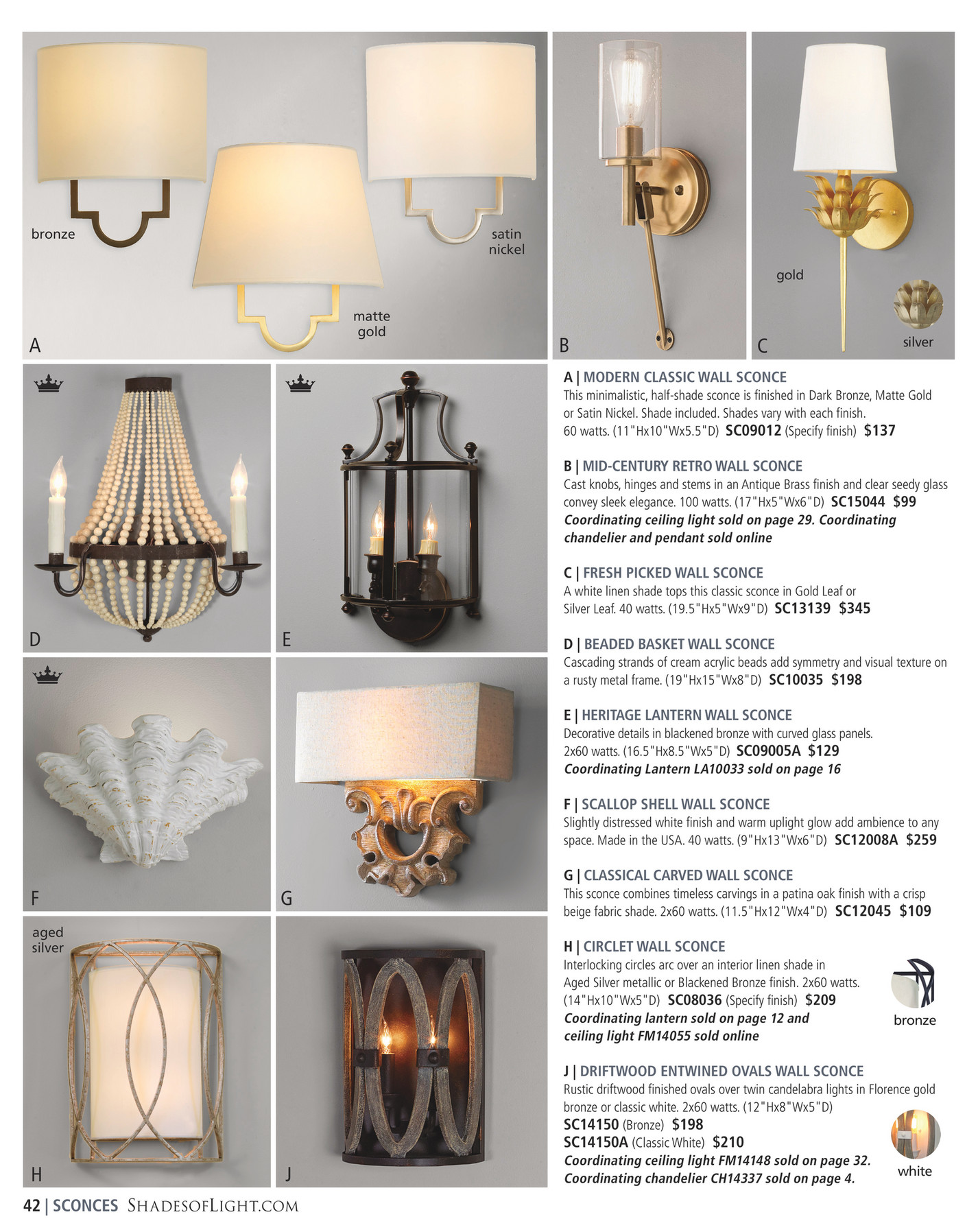 Shades Of Light Tropical Repose 2016 Scallop Shell Wall Sconce