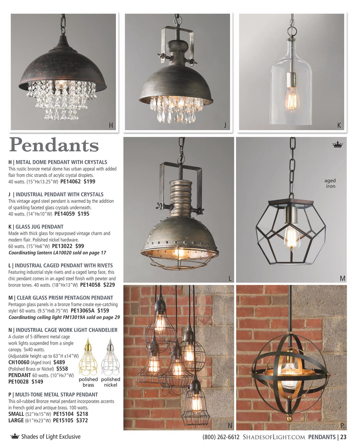 Shades of Light - Urban Renewal 2016 - Chicken Wire Pendant Light ...