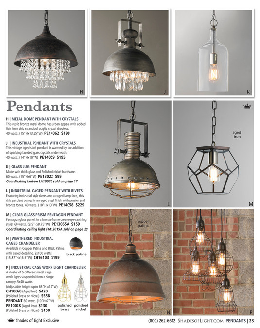 h j k pendants h metal dome pendant with crystals this rustic bronze metal dome