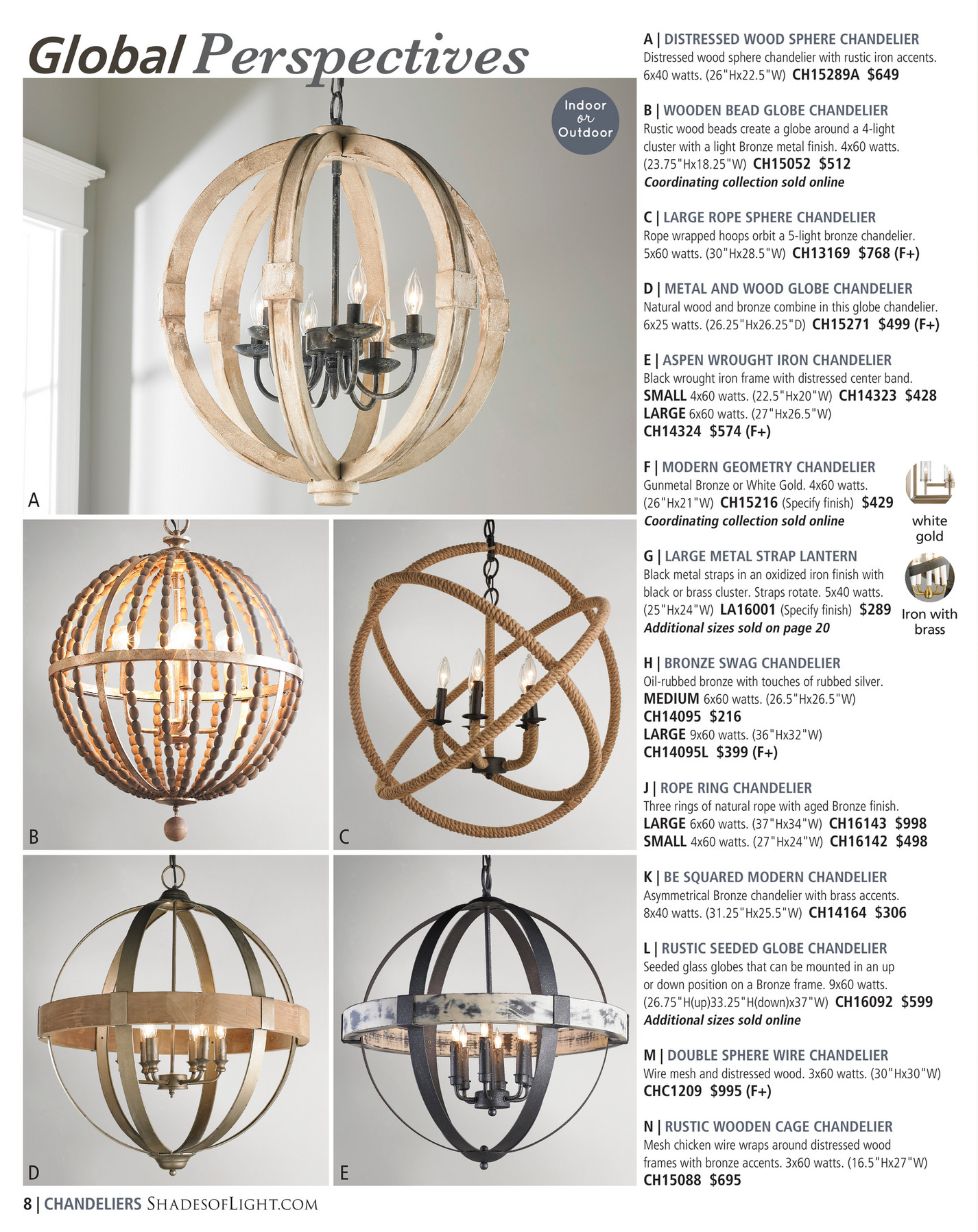 White washed wood sphere chandelier chandeliers by shades of light - Ch15088 695