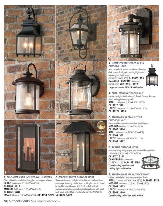 Shades of light indigo inspirations 2017 farmhouse outdoor light a b c a homesteader seeded glass outdoor light a modern classic with a traditional workwithnaturefo