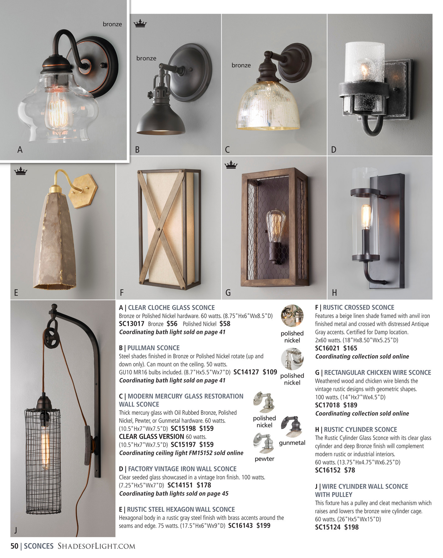 Shades of Light - Modern Farmhouse 2017 - Wire Cylinder Wall Lamp ...