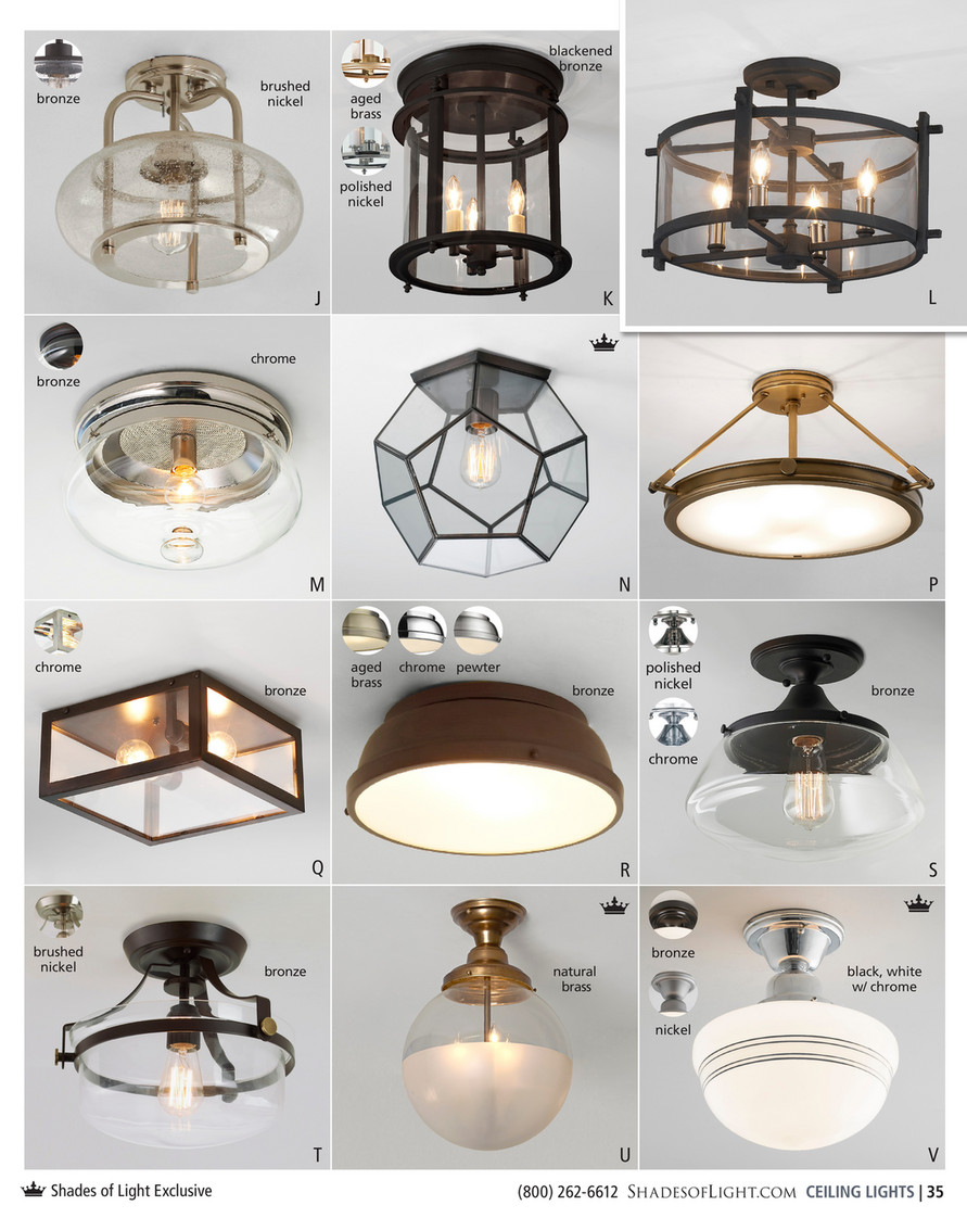 Shades Of Light Young Hollywood Haute 2017 Clearly Modern Semi Flush Ceiling Light